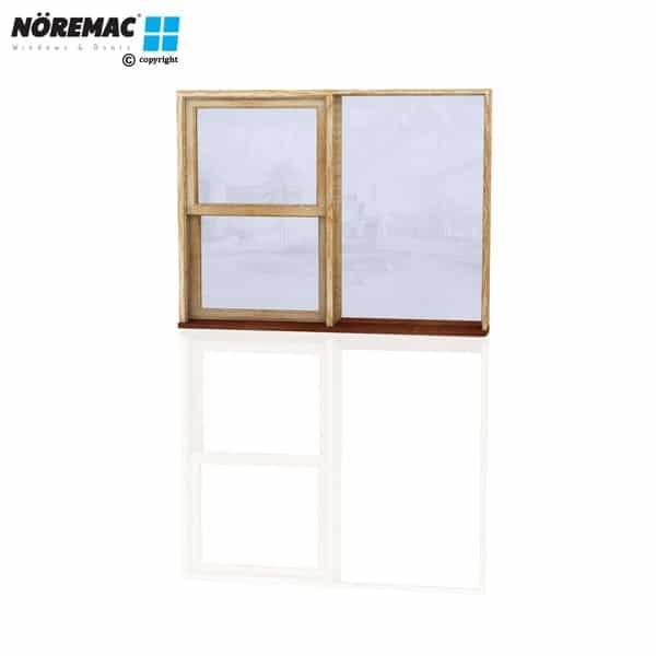 Timber Double Hung Window, 1570 W x 1200 H, Single Glazed