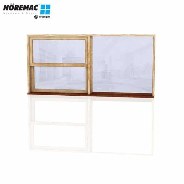 Timber Double Hung Window, 2170 W x 1030 H, Single Glazed