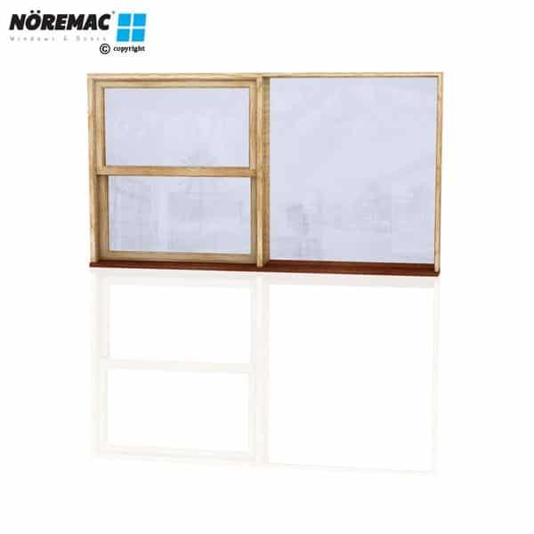 Timber Double Hung Window, 2170 W x 1200 H, Single Glazed