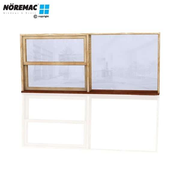 Timber Double Hung Window, 2410 W x 1030 H, Single Glazed