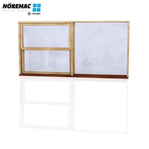 Timber Double Hung Window, 2410 W x 1200 H, Single Glazed