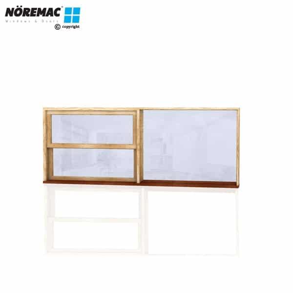 Timber Double Hung Window, 2410 W x 944 H, Single Glazed