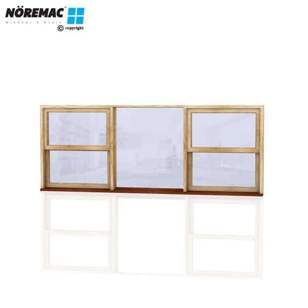 Timber Double Hung Window, 2650 W x 944 H, Single Glazed